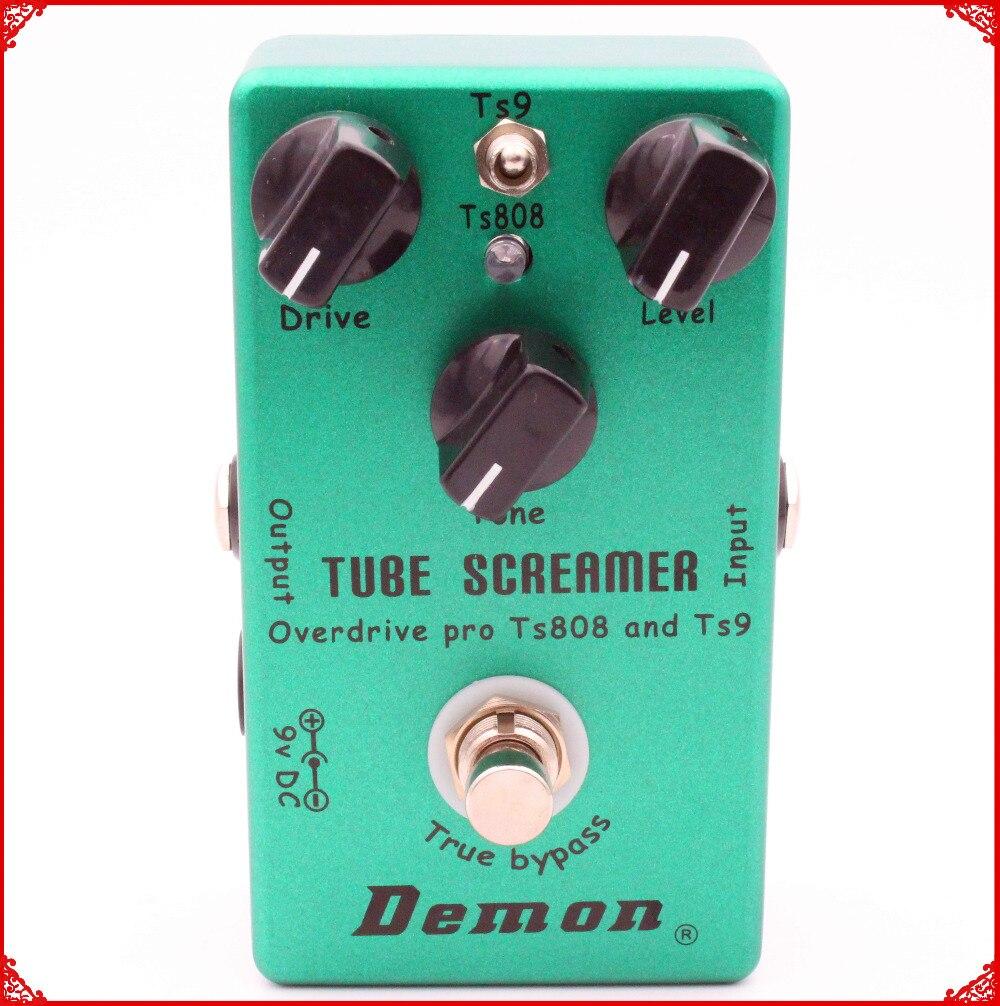 Fait à la main Guitare Pédale D'effet TS9 et TS808 Tube Screamer 2 dans 1 Overdrive Et Vrai Buypass