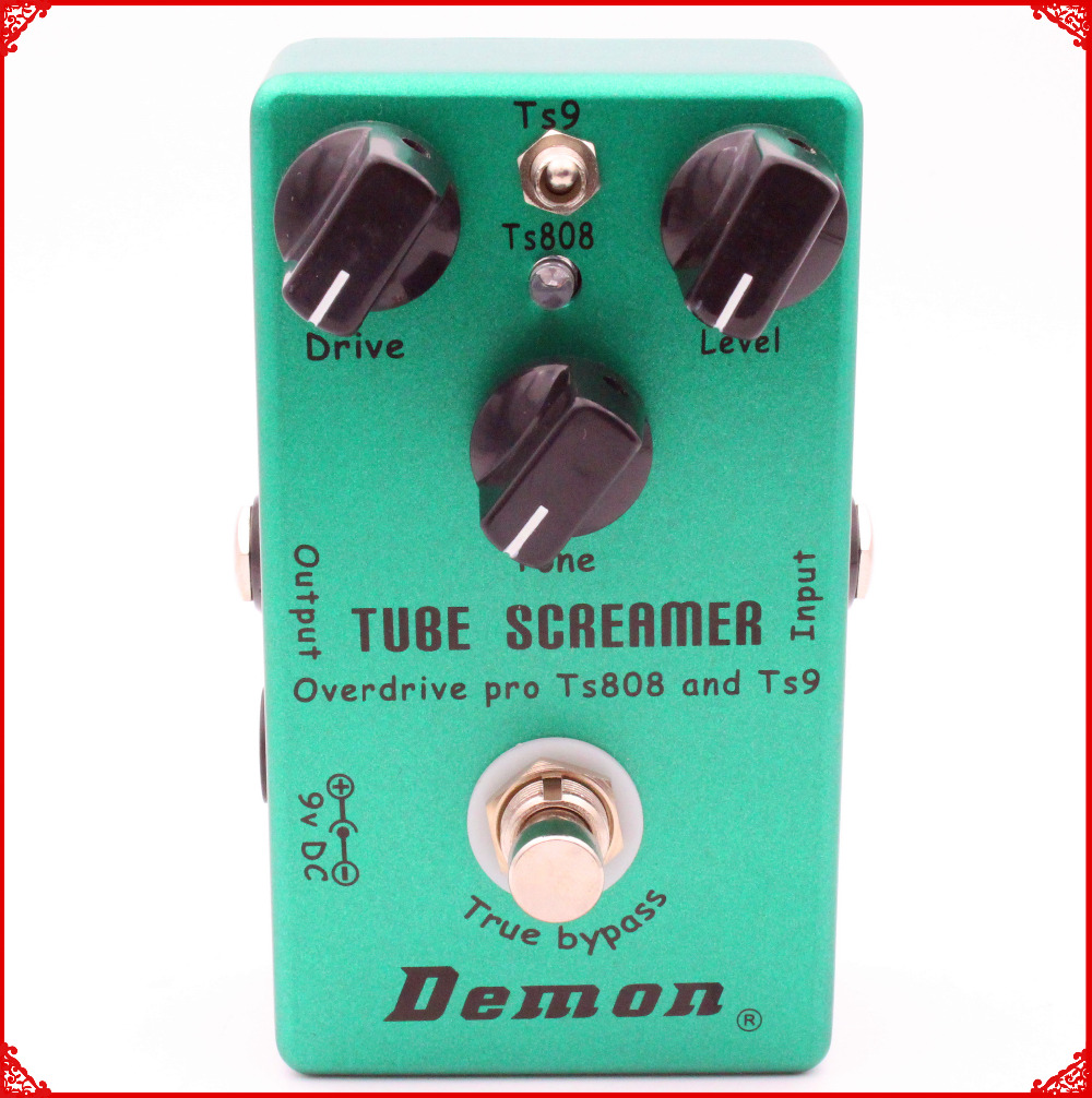 Hand Made Guitar Effect Pedal TS9 And TS808 Tube Screamer 2 In 1 Overdrive