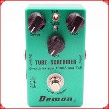 Ручной работы гитары педаль эффектов TS9 и TS808 Tube Screamer 2 в 1 Overdrive и правда buypass
