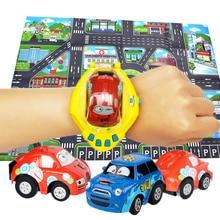 2 в 1 Мини дистанционного Управление часы RC игрушечных автомобилей модели развивающие игрушки автомобиль тяжести Сенсор Управление (с картой) best подарок для детей
