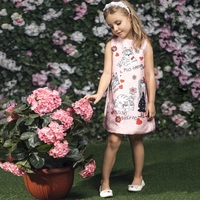 Girls Costume For Kids Party Dresses With Character Printed 2017 Lolita Style Princess Dress Birthday Girls