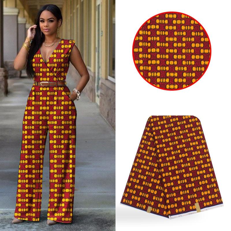 Gorąca sprzedaż wzory typu african Wax tkaniny ankara tkaniny 12 metrów 100% bawełna tkaniny do patchworku afryki tkaniny do sukni BB238 w Materiał od Dom i ogród na  Grupa 1