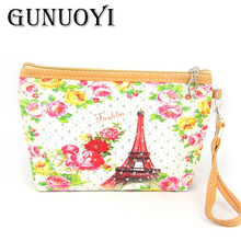 GUNUOYI Women Travel Cosmetic Bag Make up Bag Portable Cosmetic Bag Purse Pouch Bag Sac a Main Brand Make Up Pouch