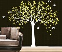 2.2 M GRANDE Árvore Genealógica PÁSSAROS Adesivos de Parede Art Vinyl Decalques Casa Room Decor Mural DIY Decoração Curva De Papel De Parede Mural D-51