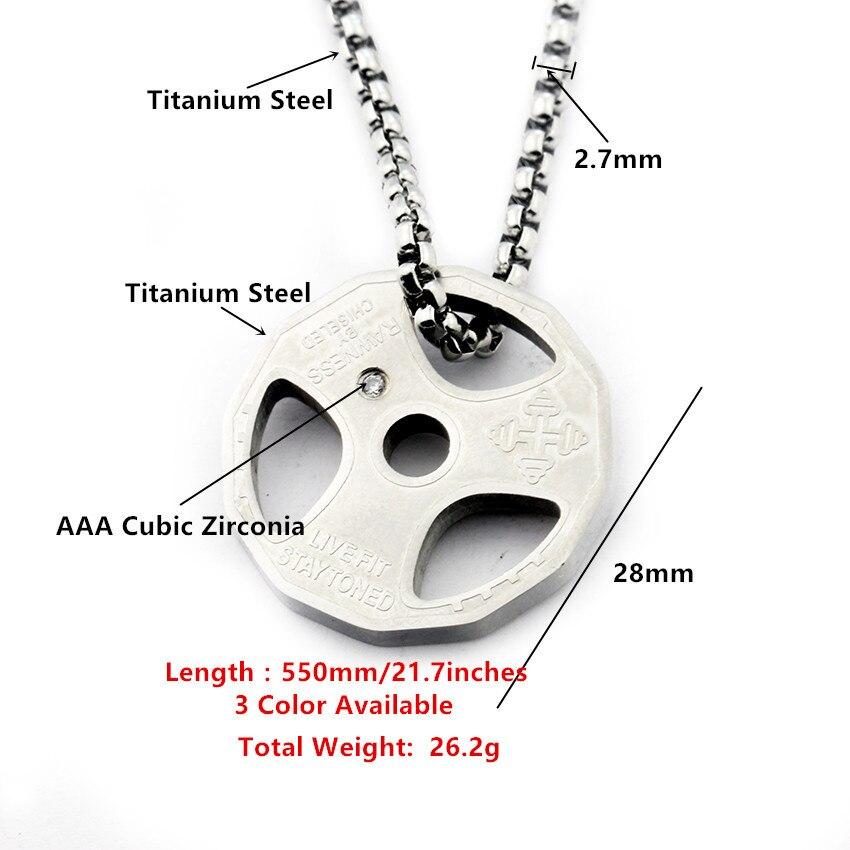 Menns Fitness Gym Halskjede Vektplate Barbell Hantel Anheng - Mote smykker - Bilde 5