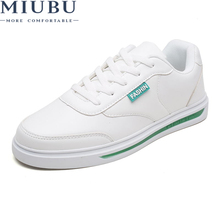 2019 MIUBU New Spring Summer Men Casual Shoes Fashion Leather Loafers Lace-up Mens Flat Breathable Sneakers