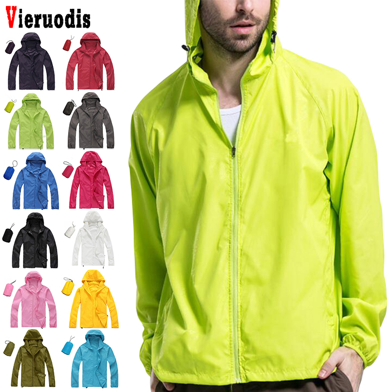 Men Women Ultra-Light Windbreake Jacket Anti-UV Skin Jacket Outdoor Sports Quick Dry Sun Protective Hiking Hooded Windbreaker
