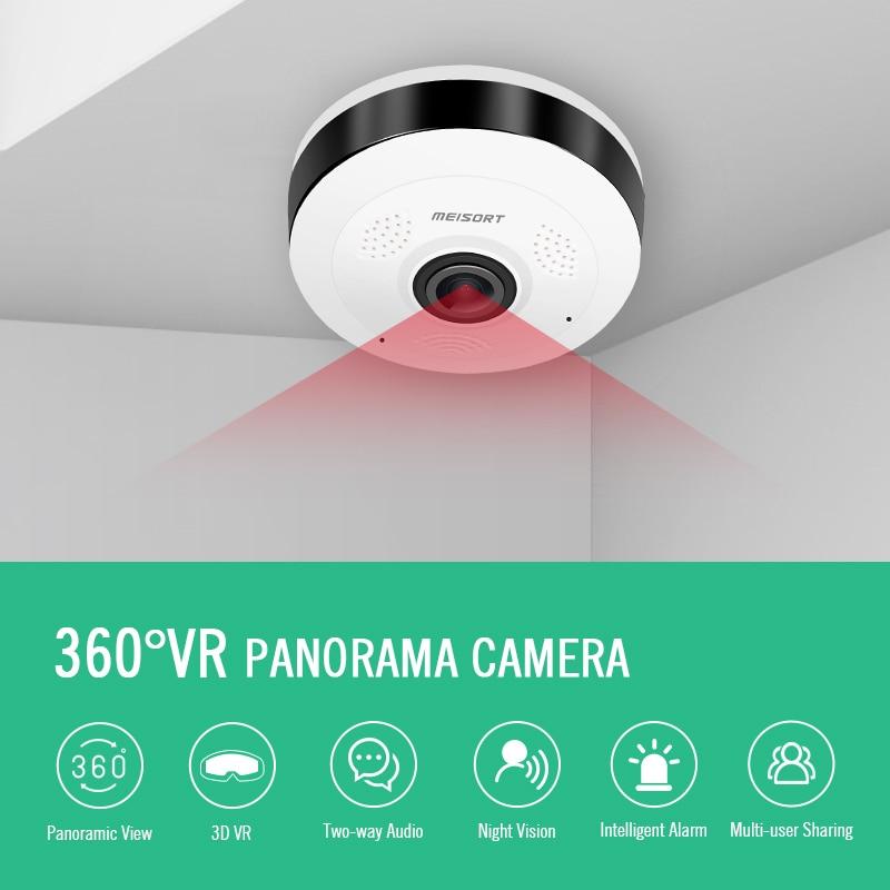 Meisort Fisheye VR Panoramiczna mini kamera WiFi 960PH sieć - Bezpieczeństwo i ochrona - Zdjęcie 5