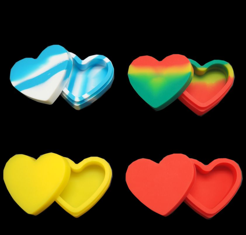 heart shape silicone container 3