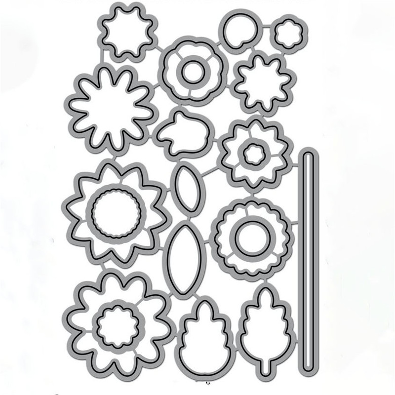 DiyArts Flower Clear Stamps and Metal Cutting Dies Scrapbooking for New Craft Dies Set Album Embossing Decor Stencils in Cutting Dies from Home Garden