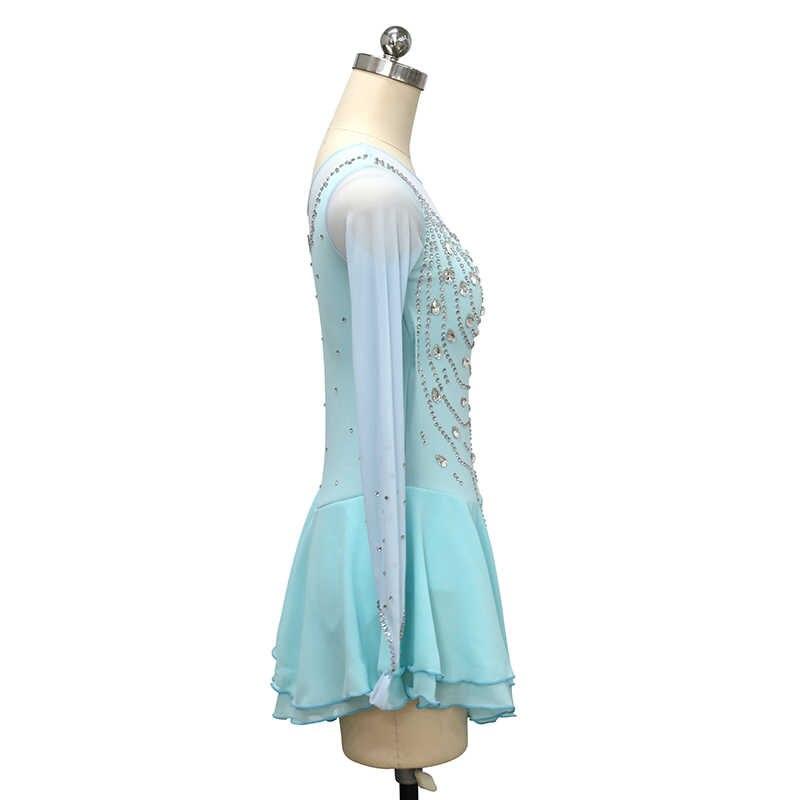 Платье для фигурного катания Nasinaya, индивидуальные юбки для конькобежцев для девочек, женщин, детей, Patinaje, гимнастика, представление 396
