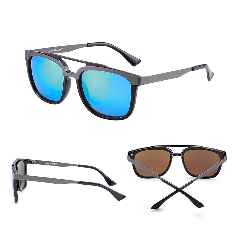 Browline Mixed Teile Freies 50 Jm Sonnenbrille Doppel Schnelles Colors los Frauen Brücke Verschiffen Großhandel Designer Marke Edelstahl Männer qpap0w