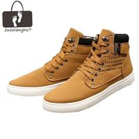 Zuoxiangru Hot Men Shoes Fashion Warm Fur Winter Men Boots Autumn Leather Footwear For Man New High Top Canvas Casual Shoes Men