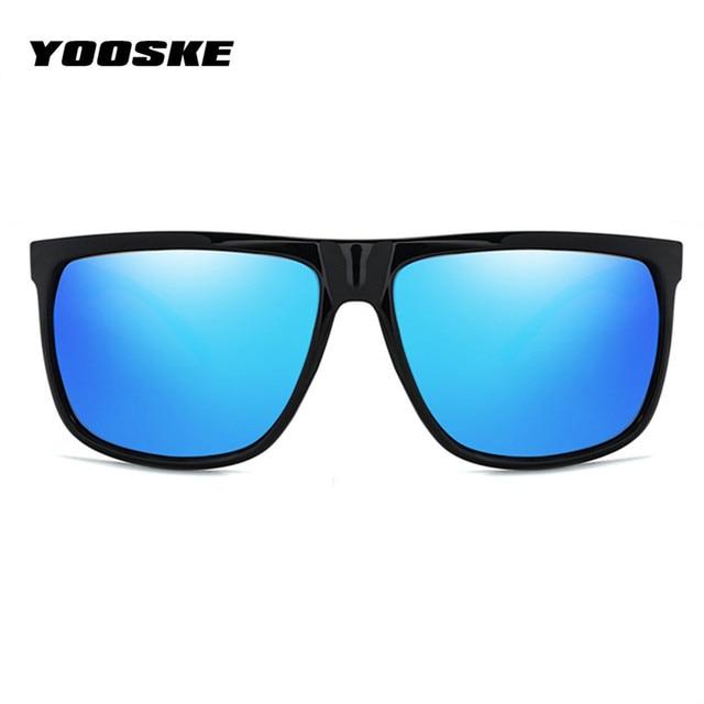 46456b4d44 YOOSKE UV400 HD Polarized Men Sunglasses Classic Retro Brand Sun Glasses  Coating Drive Black Frame Eyewear