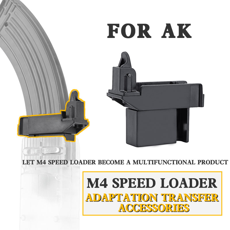 Tactical Airsoft M4 BB Speed Loader Adapter Converter To Adapt AK G36 MP5 Magazine For Hunting Military Paintball Accessories