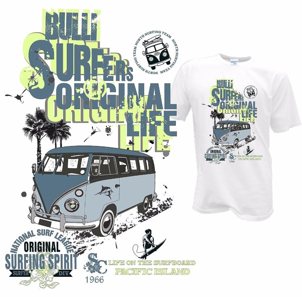 Hot Sale Fashion High Quality Personality T-shirt  Bulli Bus Surfer Tee Shirts Retro Samba T1 T2 T3 24 Printing Casual T Shirt