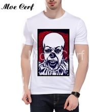 2017 IT movie T Shirt Halloween Gift Dancing Clown Pennywise Brand Clothing High Quality Tops Tees Custom male t-shirt L5-147