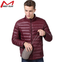 2017 Plus Size 4XL Men Winter Jacket And Coat Mans Ultra Light Down Cotton Padded Thin