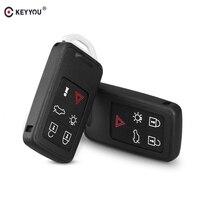 KEYYOU For Volvo S60L/XC60/S80L/V60/V40 5 Buttons Key Blank Fob Case 6 Buttons Remote Key Shell Auto Car Key