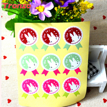 Tronzo 108pcs/set Bake Seal Stickers Candy Box Decor Easter Bunny Birthday Wedding Decoration Party Supplies Cookies Box Sticker