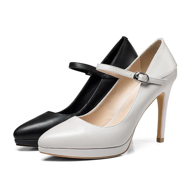 En Plate forme Pointu Strap Femmes De Femme Haute Printemps Wetkiss Bout Chaussures Mode Noir Cheville Cuir Pompes Talons gray Vache lFK3uT1c5J