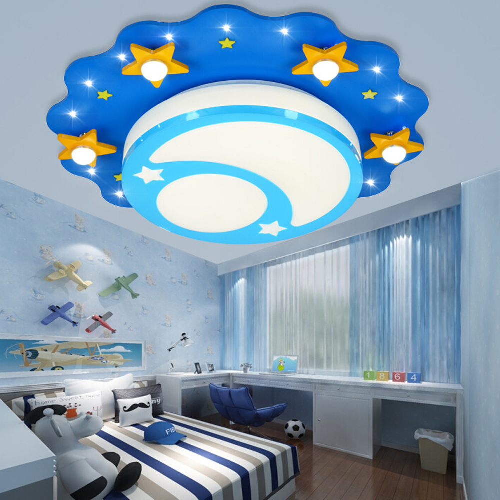 Wooden led ceiling lamps childrens lamps decorative lighting for kids - Wood Ceiling Led Lights Led Children Ceiling Lights 110v 220v E27 Home Decor Acrylic Shade