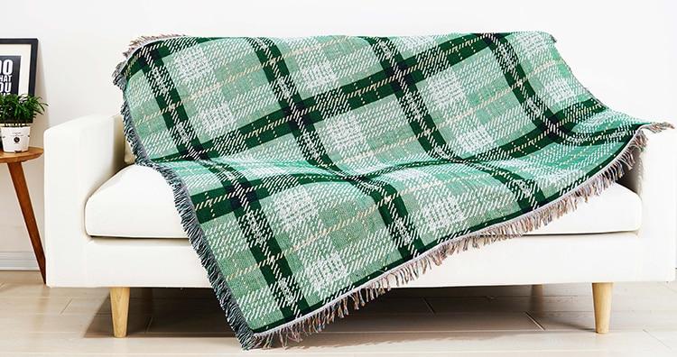 Divano Letto Per Bambino : Maglia di cotone coperta da viaggio per divano letto bambino pic