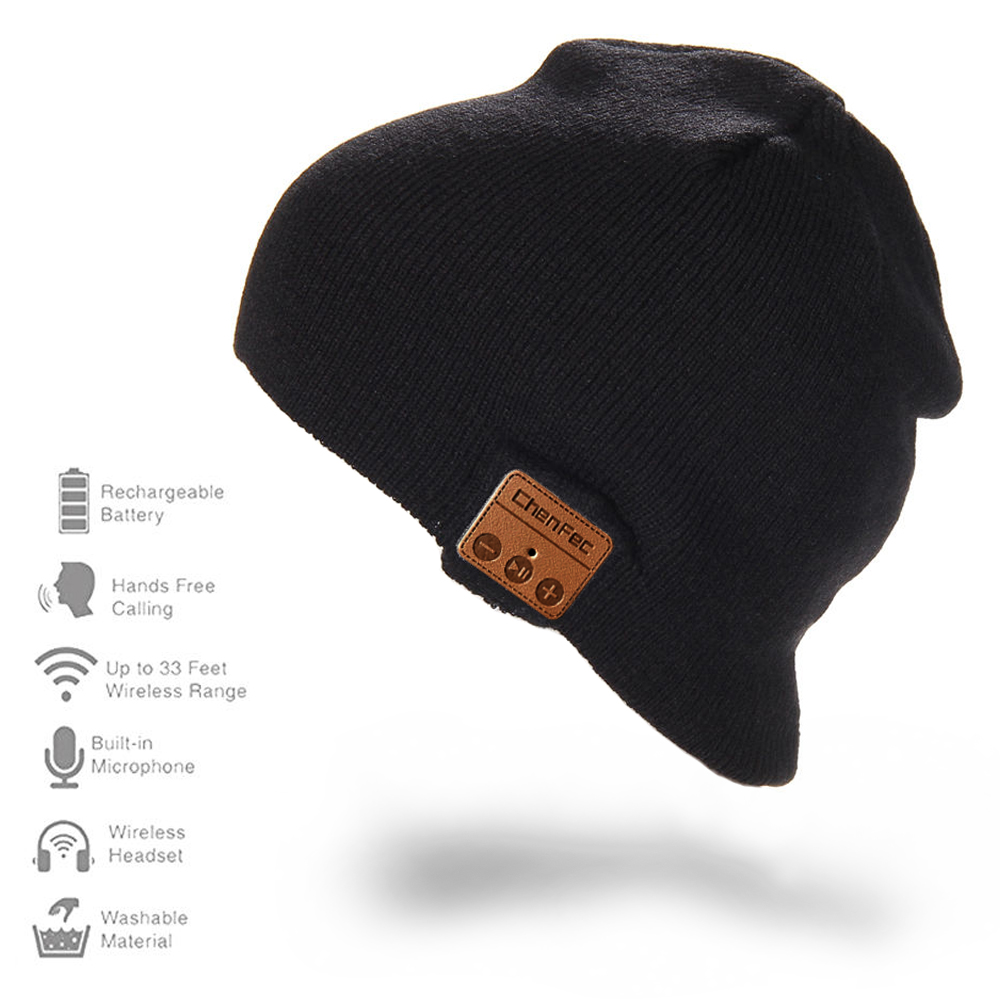 2017 New Fashion CHENFEC Bluetooth Beanie Hat Wireless Bluetooth Headset Hands-free Music Mp3 Speaker Mic Hat Cap for Boy & Girl wireless bluetooth music beanie cap stereo headset to answer the call of hat speaker mic knitted cap