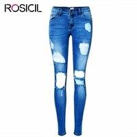 סקסי נמוך מותן סקיני ג 'ינס נקבה נמתחה ג' ינס חור שבור מכנסיים עיפרון נשי ג 'ינס כותנה טהורה באיכות גבוהה אופנתי