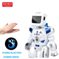Zhorya toys RC Robot Intelligent robot Remote Voice Control Music Light Electronic Toy Water power generation as Children Gifts