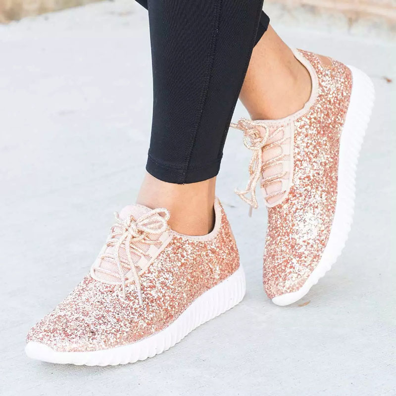 Women Sneakers 2019 Summer Glitter Bling Gold Silver Shoes Woman Plus Size White Sneakers Sparkly Casual Shoes For WomenWomen Sneakers 2019 Summer Glitter Bling Gold Silver Shoes Woman Plus Size White Sneakers Sparkly Casual Shoes For Women