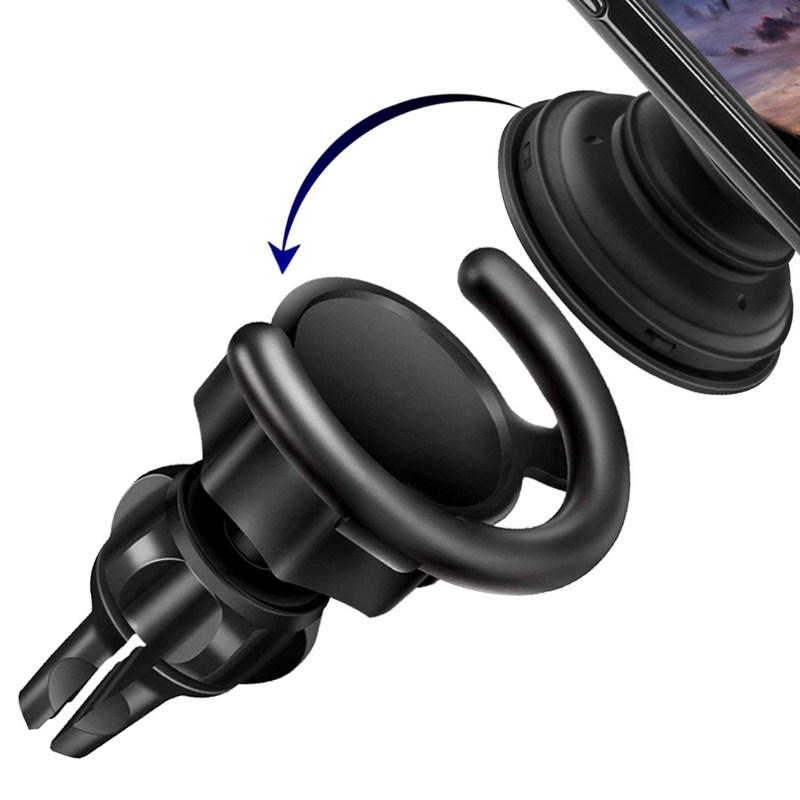 Car Phone Holder Air Outlet 360 Degrees Rotation Portable Lightweight Cross-shaped Clip Airbag Bracket Pop Stand Socket