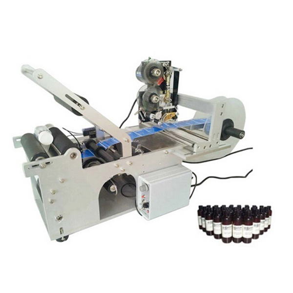 Tabletop semi automatic bottle labeling machine with date printing machine eco mt 50 semi automatic round bottle labeler labeling machine 120w 20 40pcs min