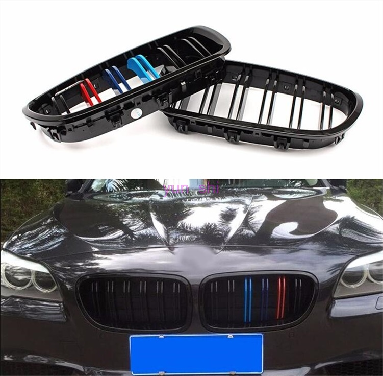 ABS M Color Racing Grille Bumper Car Grilles Sport Modify Covers For BMW 5 Series F10 F11 F18 520i 523i 525i 530i 535i M styling grille