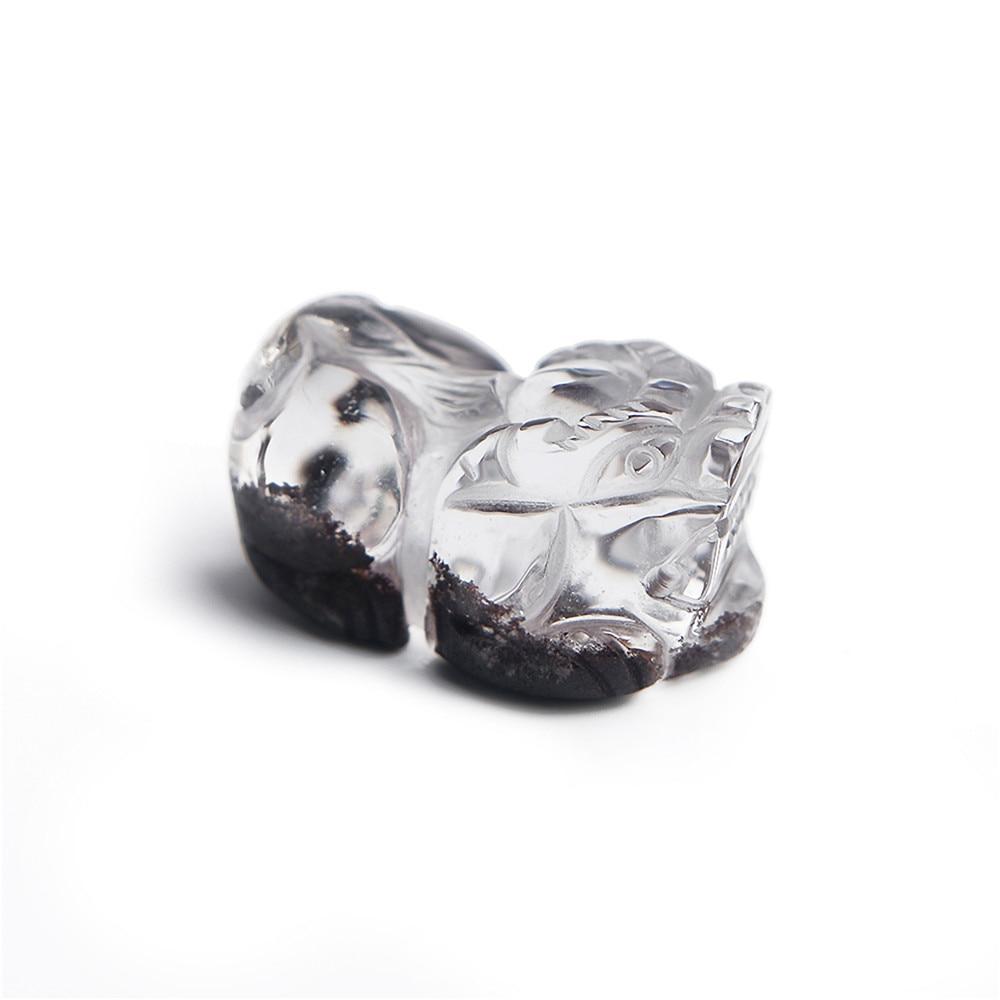 Véritable Naturel Rouge Phantom Quartz Femelle Collier Pixiu Forme Perles En Cristal Pendentifs Trouver Bijoux