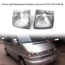 KKMOON угловой светильник Замена объектива прозрачные линзы индикаторная лампа Объектив Автомобильные аксессуары Подходит для VW T4 95-03