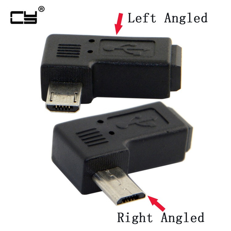 90 Degree Left & Right Angled 9MM MINI USB 5PIN Female To MICRO USB Male Data Sync Power ADAPTER