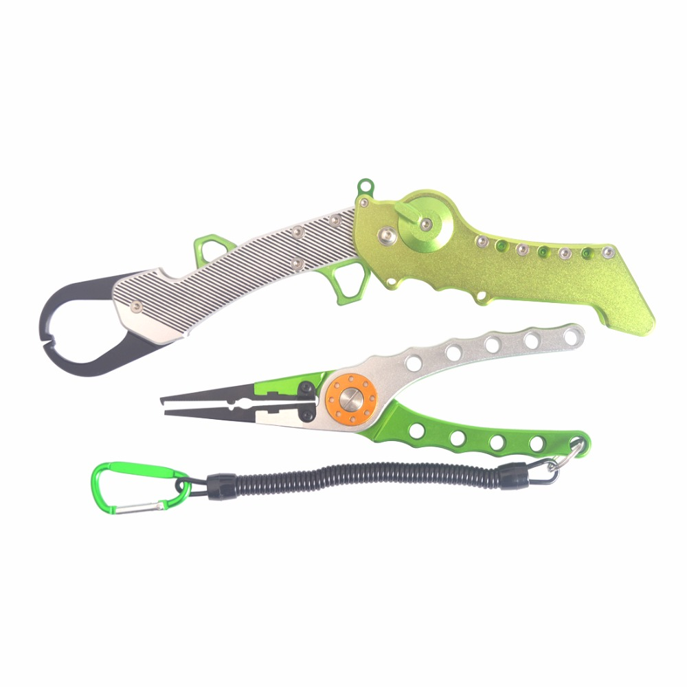 Hot Sale  Aluminum Alloy  Fishing Pliers Set   With Multifunction Pliers Equipment For Fishing Pliers  Tackle