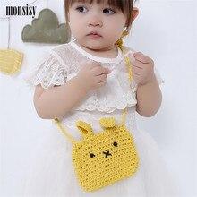 Monsisy Winter Girl Wool Handbag Kawaii Knitted Rabbit Shoulder Bag Baby Coin font b Purse b
