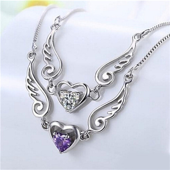 Angel Wings Of Love Heart Necklace 1