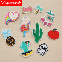 VIPOINT embroidery apple trees patches fruits cactus badges applique for clothing XW-40