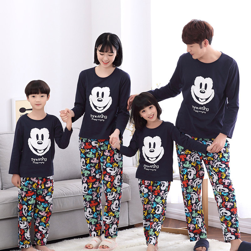 family matching pajamas christmas kids mickey pyjamas clothing set mother son outfits moomy and. Black Bedroom Furniture Sets. Home Design Ideas