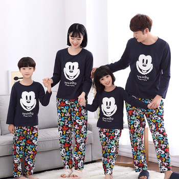 Family Matching Pajamas Christmas Kids Mickey Pyjamas Clothing Set Mother Son Outfits moomy and me clothes pyjama noel famille