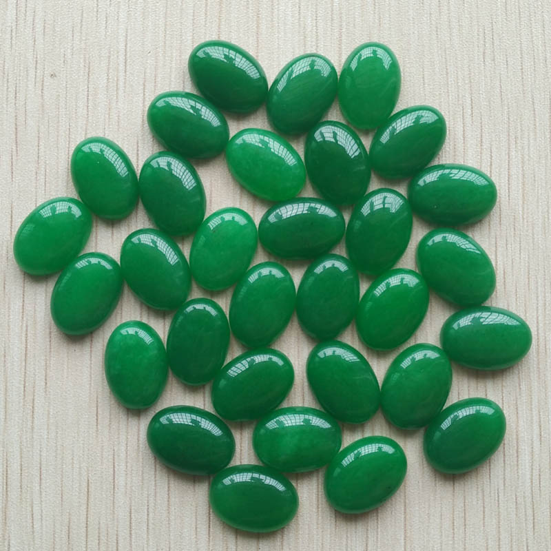Wholesale 50pcs/lot Fashion bestselling good quality natural green stone Oval CAB CABOCHON jewelry beads 13x18mm free