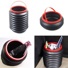1 pcs New Outdoor Camping Hiking Car Wash Fishing Folding Bucket Barrel Water Container 4L poubelle de cuisine