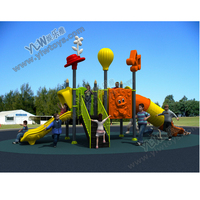 2017 Small Amusement Plastic Outdoor Playground Slide For School Park Community With CE TUV