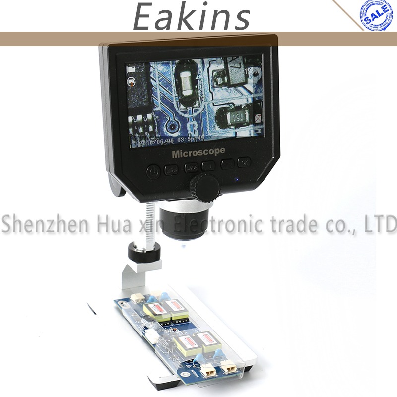 high quality 1-600x 3.6MP Portable USB Digital Electronic Microscope VGA Microscope 8 LED 4.3 for phone repair
