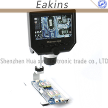 Sale high quality 1-600x 3.6MP Portable USB Digital Electronic Microscope VGA Microscope 8 LED 4.3″ for phone repair