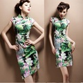 Hotsale 2016 Женщины Винтаж PlusSize Китайский Традиционный Cheongsam Цветочные Платья Qipao Печати Вечерние Летние Платья Женщин vestidos