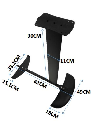 H4 en aluminium feuille pour CERF-VOLANT, la planche à voile carbone ailes en aluminium hydroptère kiteboard hydroptère